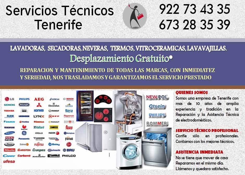 Servicio t cnico indesit tenerife reparar for Tecnico de lavadoras tenerife